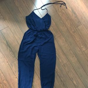 Pants - Navy blue jumpsuit